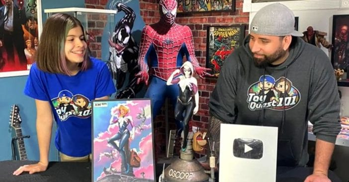 Illiana and Miguel Figueroa with ToyQuest101