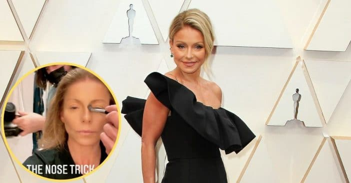 Kelly Ripa Shows Off 'Nose Trick,' People Think It's Plastic Surgery