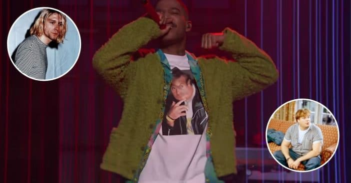 Kid Cudi honors Kurt Cobain and Chris Farley on SNL