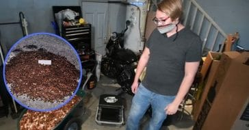 Man Receives Final Paycheck In Oily Pennies Dumped On His Driveway
