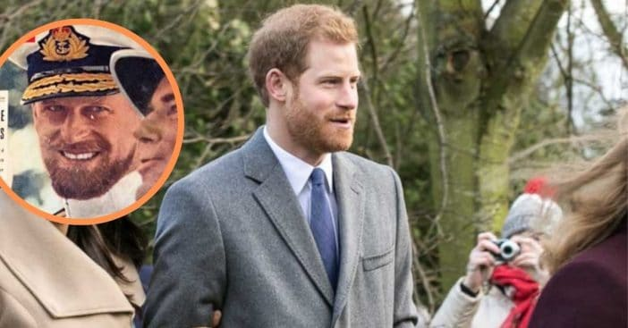 Prince Philip and Prince Harry, both at age 36