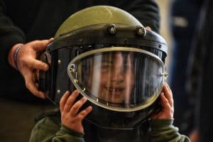 Seven-year-old Ibrahim became an honorary member of CPD's SWAT unit