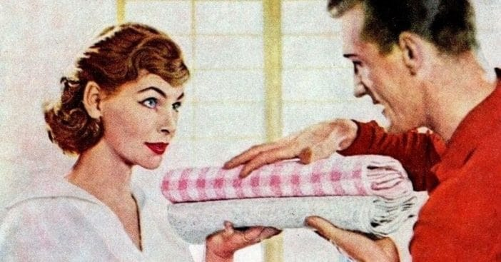 What society thought about men who did the housework