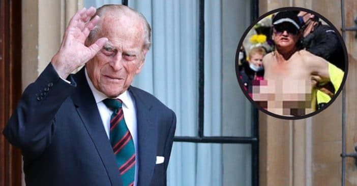 Woman charged with causing a disturbance during the duke's funeral