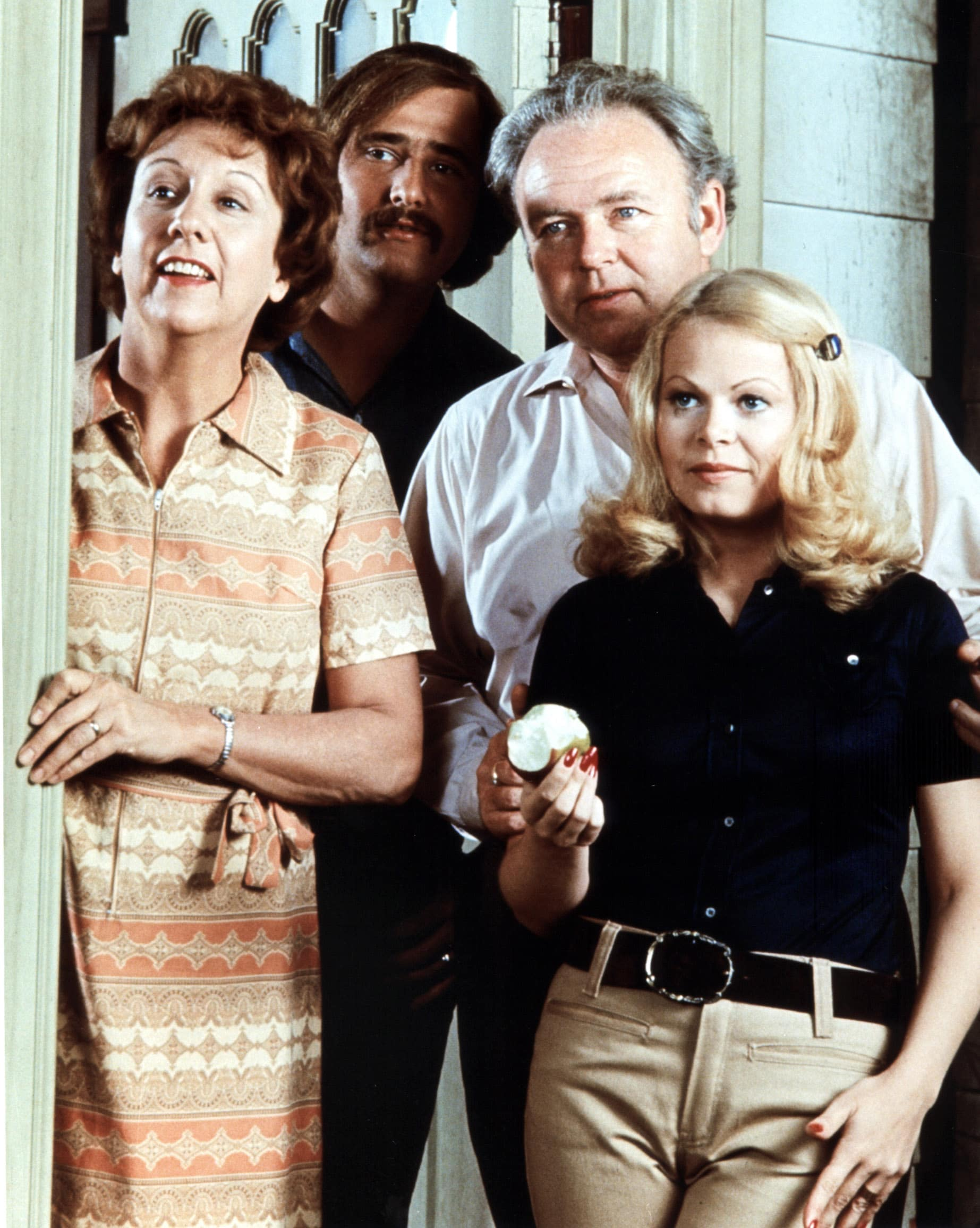 ALL IN THE FAMILY, Jean Stapleton, Rob Reiner, Carroll O'Connor, Sally Struthers, 1971-1983