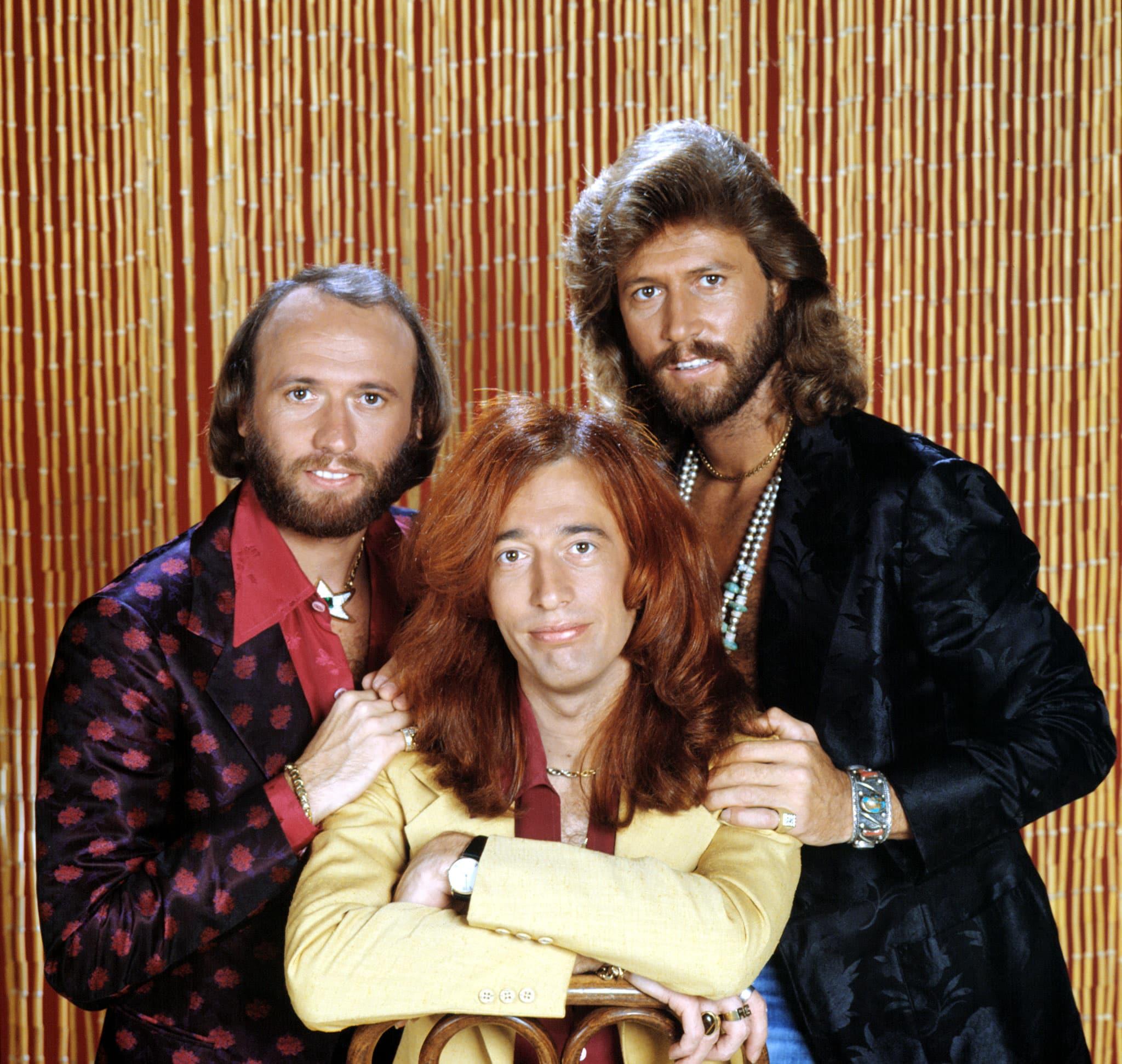 BEE GEES, Maurice Gibb, Robin Gibb, Barry Gibb, circa mid-1970s