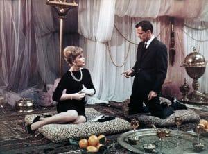 THE BRASS BOTTLE, Barbara Eden, Tony Randall, 1964