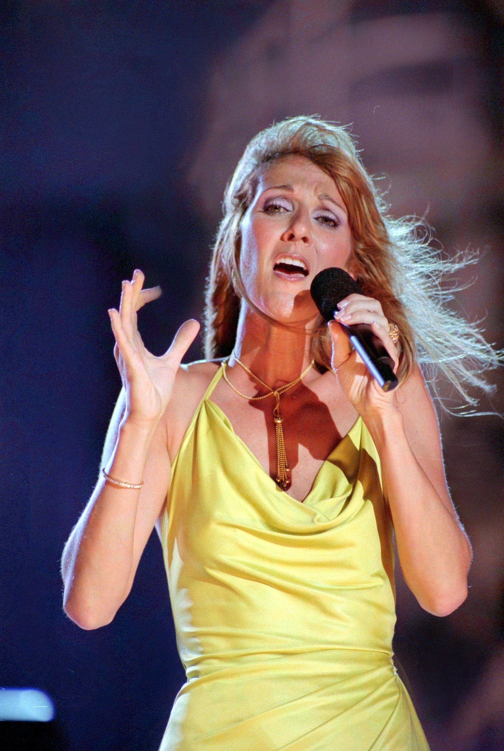 """CELINE DION performing on """"Rockin' For The USA"""""""