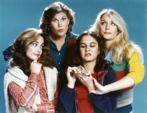 CO-ED FEVER, from left: Cathryn O'Neil, Tacey Phillips, Alexa Kenin, Heather Thomas, 1979.