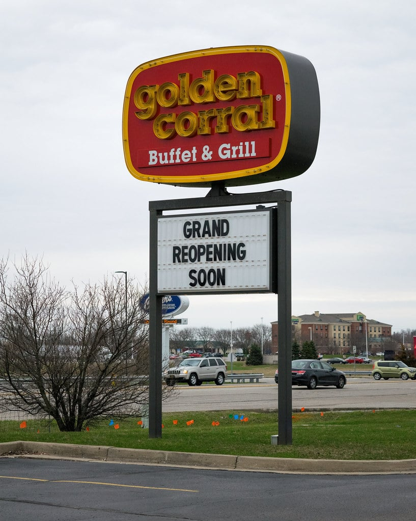Golden Corral grand reopening