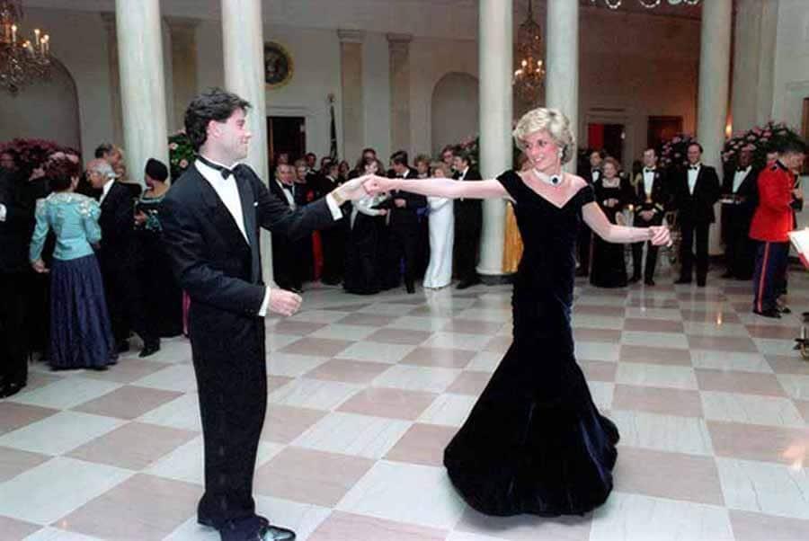 Princess Diana dancing with John Travolta at the White House