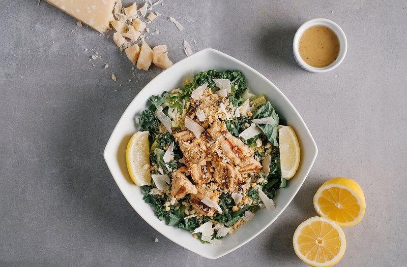 chick-fil-a's lemon kale caesar salad