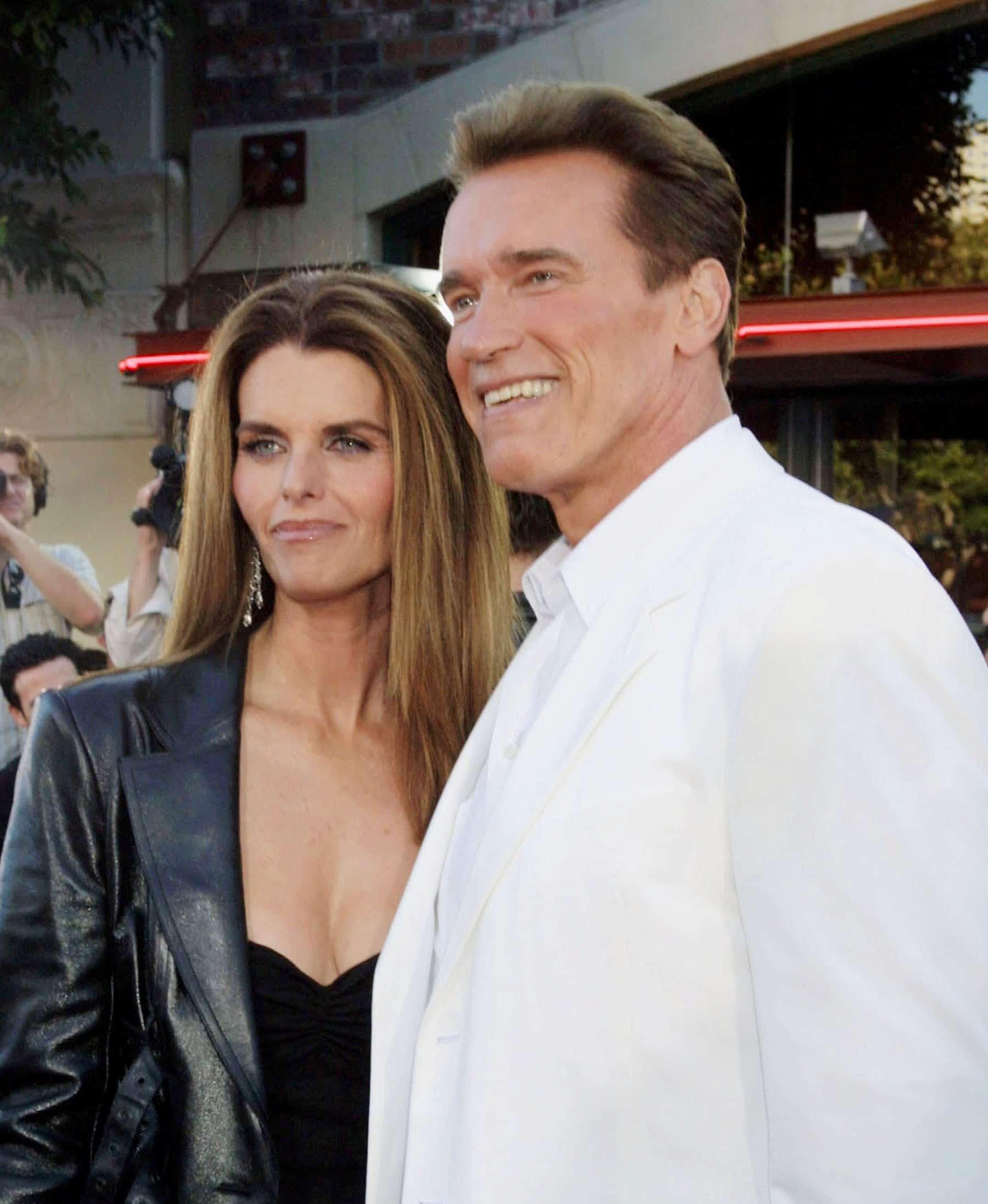 Maria Shriver, Arnold Schwarzenegger arriving at the Terminator 3 Premiere