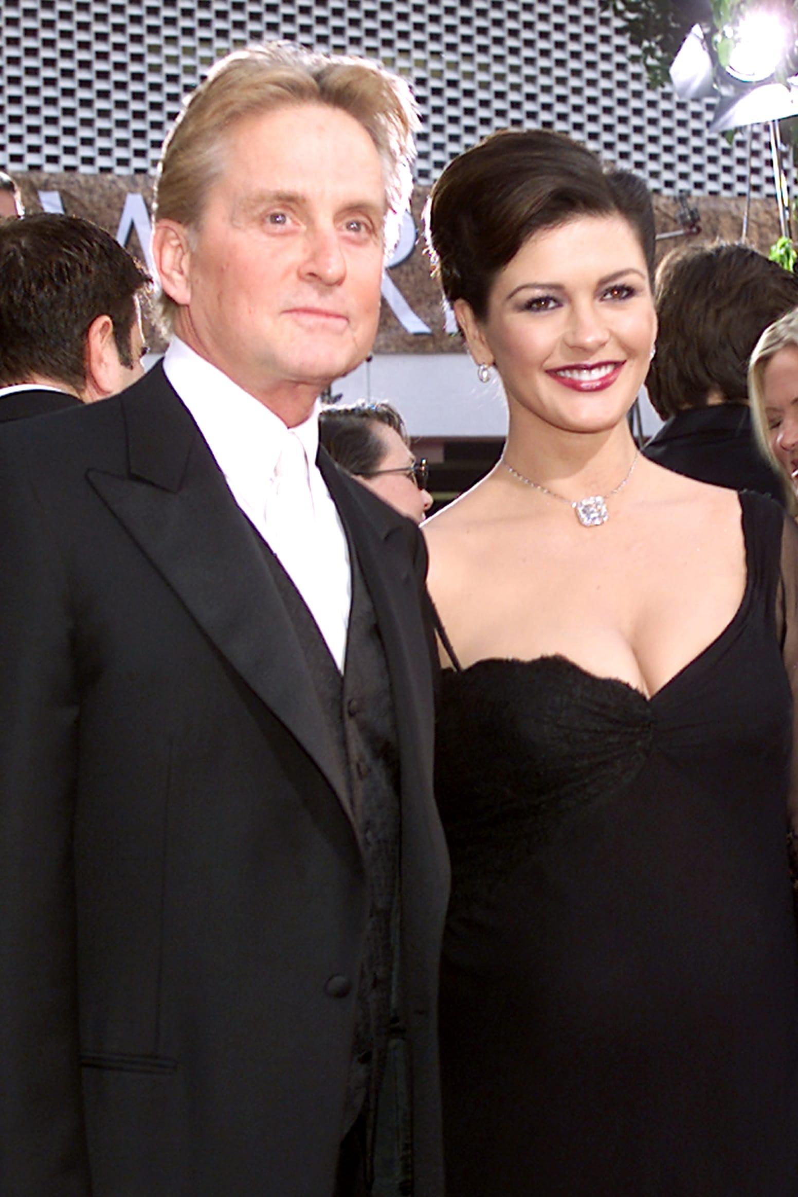 Michael Douglas and Catherine Zeta-Jones at Golden Globe Awards