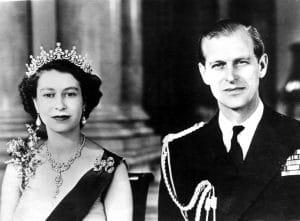 A QUEEN'S ROYAL TOUR, from left, Queen Elizabeth II, Prince Philip, 1954