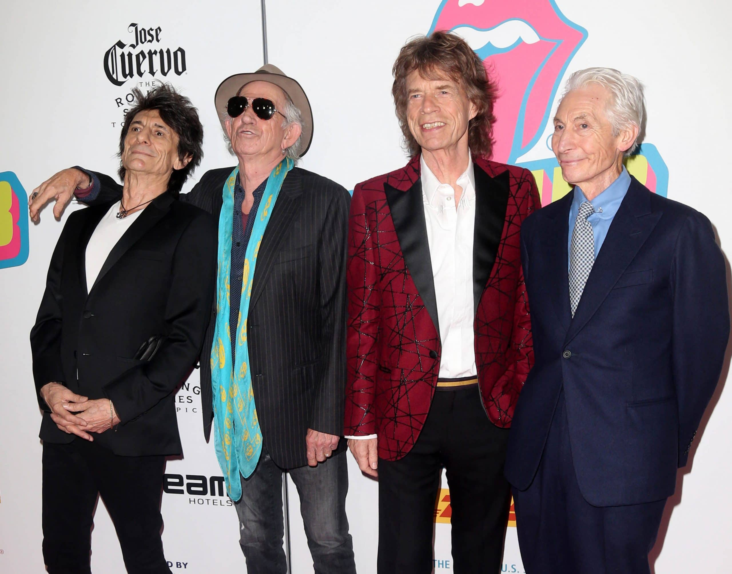 The Rolling Stones (Ronnie Wood, Keith Richards, Mick Jaggers and Charlie Watts)