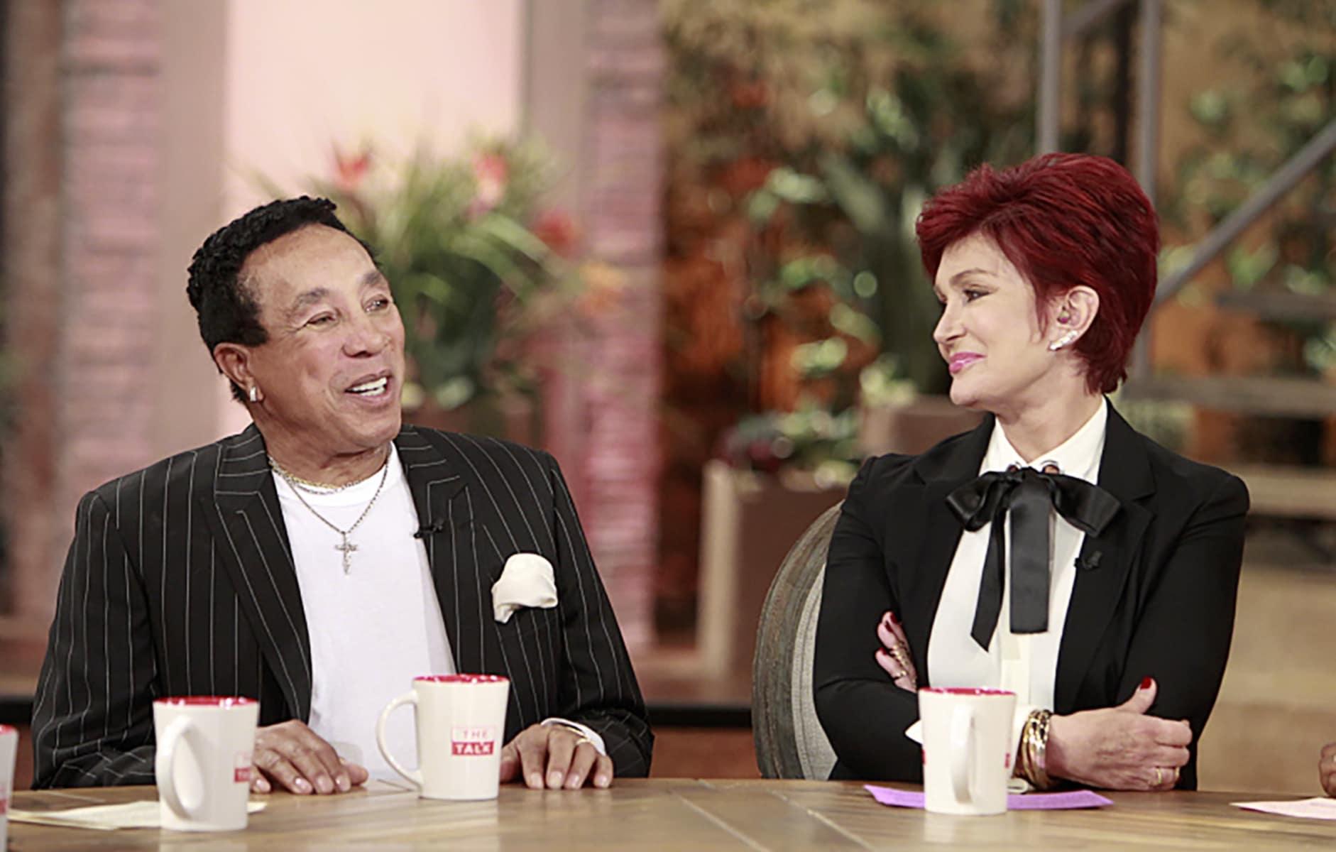 THE TALK, (from left): Smokey Robinson, Sharon Osbourne