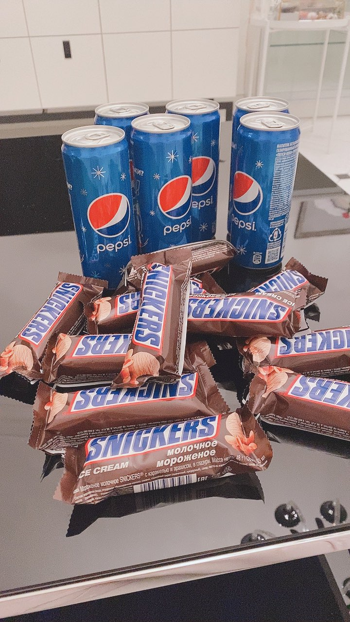 Snickers and Pepsi combo