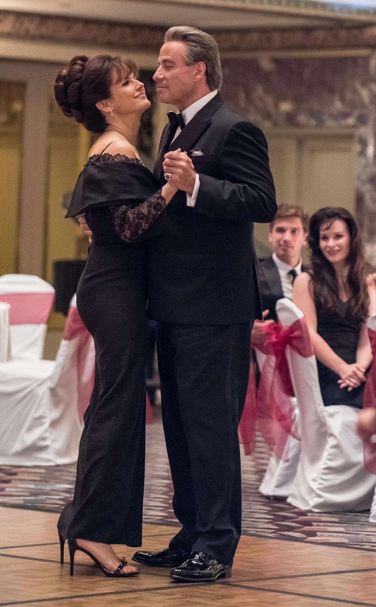 GOTTI, from left: Kelly Preston, John Travolta, as John Gotti Sr.