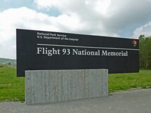 A memorial to Flight 93, which crashed in a Pennsylvania field on 9/11