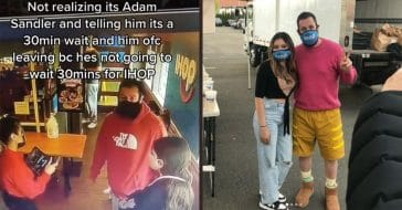 Adam Sandler Reunites With IHOP Hostess Who Turned Him Away Not Realizing It Was Him
