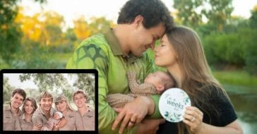Bindi Irwin Shares Illustrated Family Portrait With Late Dad Steve Holding New Baby