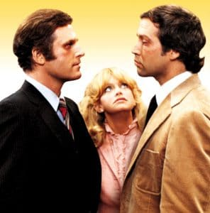 Charles Grodin, Goldie Hawn, and Chevy Chase in Seems Like Old Times
