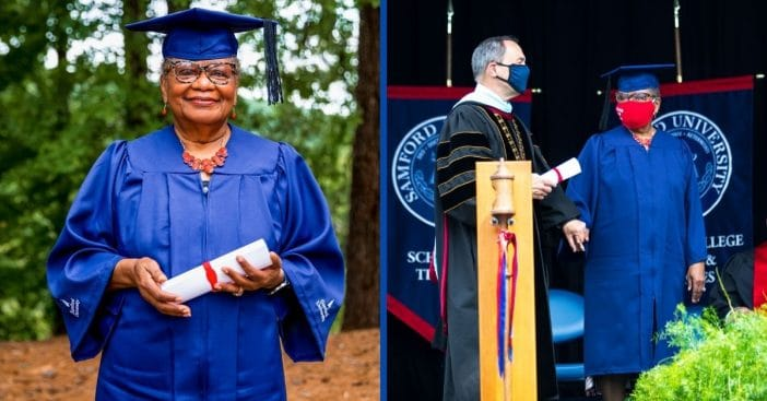 Alabama Great-Grandmother Graduates from Samford University at 78-Years-Old
