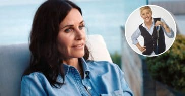 Ellen DeGeneres living with Courteney Cox