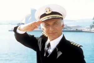 Gavin MacLeod captaining The Love Boat