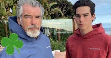 Happy birthday to Pierce Brosnan, from his son Paris