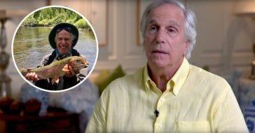 Henry Winkler receiving backlash for fishing photo