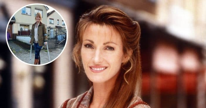 Jane Seymour fractured her kneecap on the set of her new show