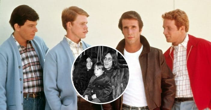 John Lennon and his son met the cast of Happy Days