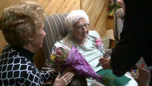Thelma Sutcliffe, age 114