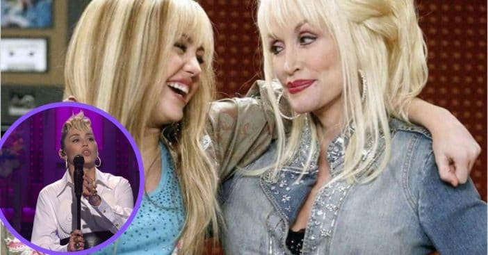 Miley Cyrus honored her godmother Dolly Parton