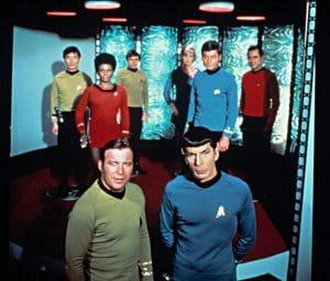 William Shatner and Leonard Nimoy fronted the enduing series Star Trek
