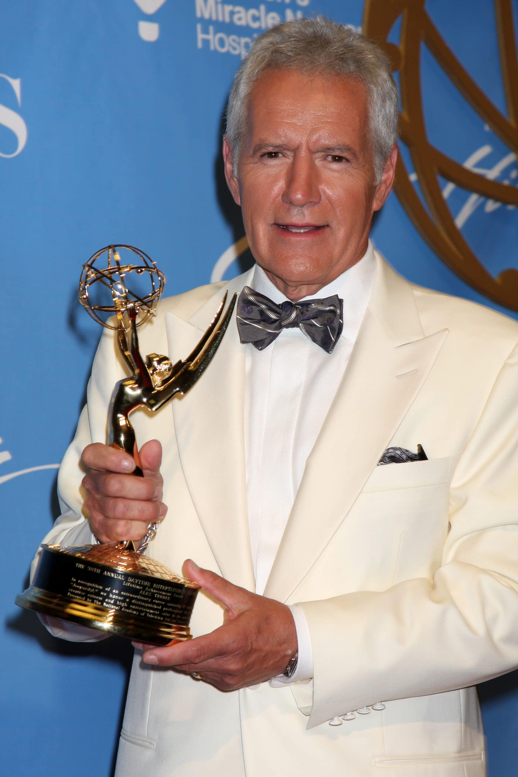 Alex Trebek in the Press Room of the 38th Daytime Emmy Awards