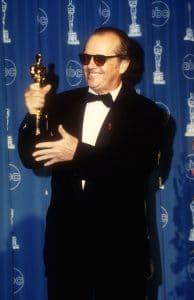 Jack Nicholson with his Academy Award