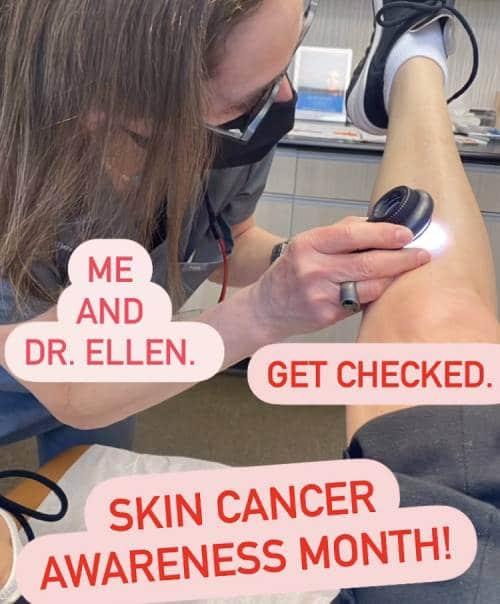 Catherine Zeta-Jones gets her skin checked during Skin Cancer Awareness Month