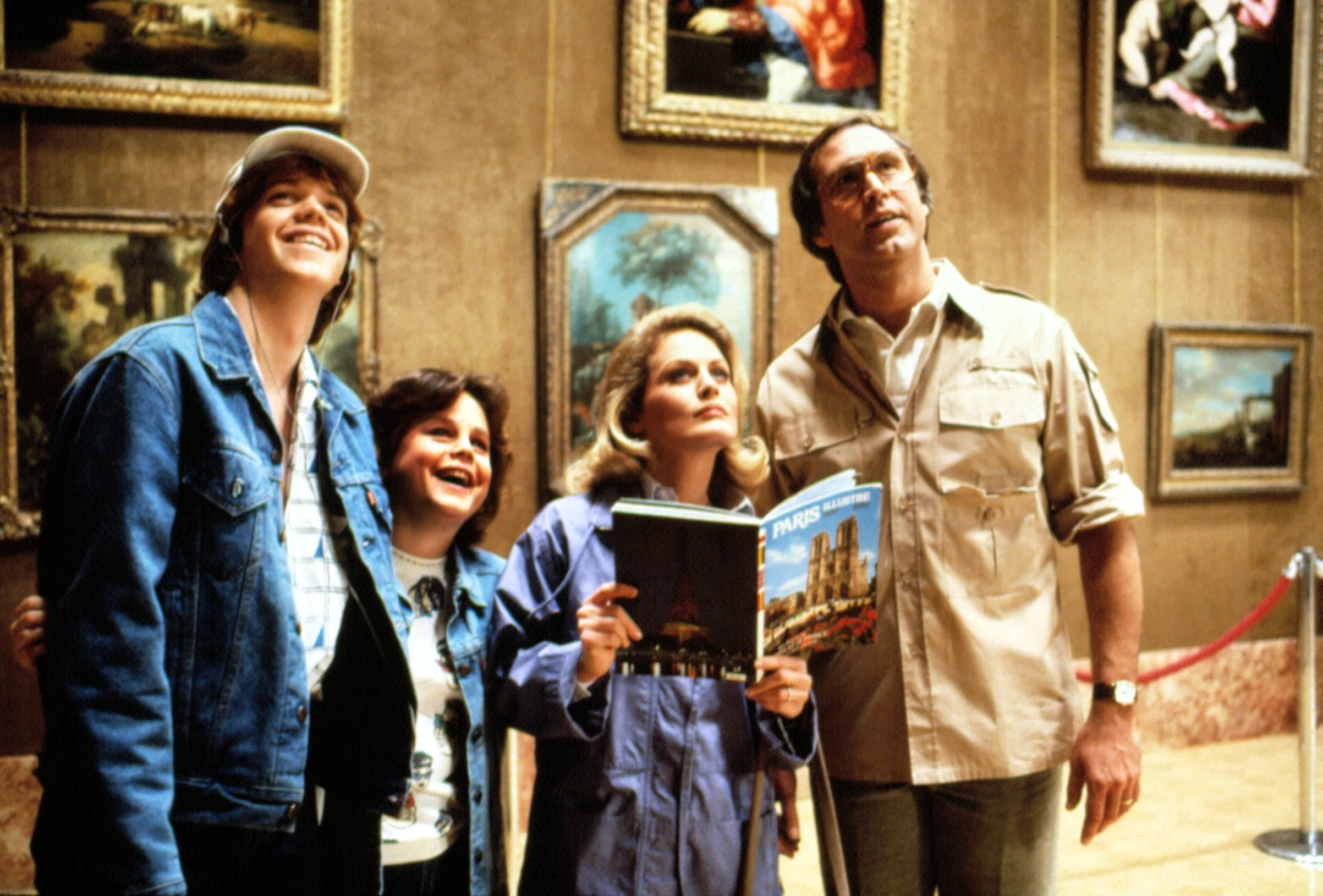 NATIONAL LAMPOON'S EUROPEAN VACATION, Jason Lively, Dana Hill, Beverly D'Angelo, Chevy Chase, 1985