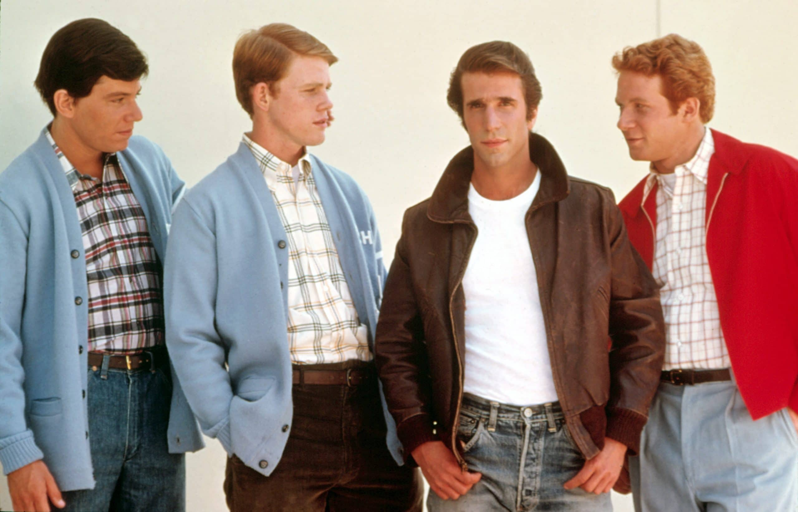HAPPY DAYS, Anson Williams, Ron Howard, Henry Winkler, Donny Most