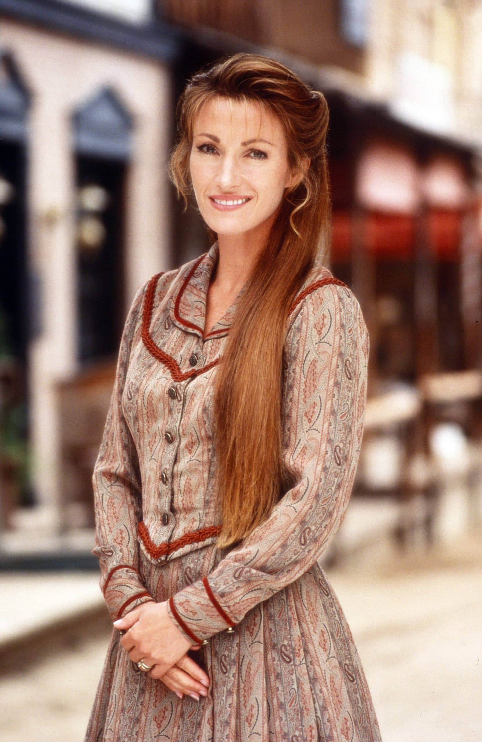 DR. QUINN, MEDICINE WOMAN, Jane Seymour, with one of the Calabrese triplets, 1997, 1993-1998