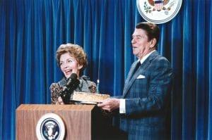 U.S. President Ronald Reagan