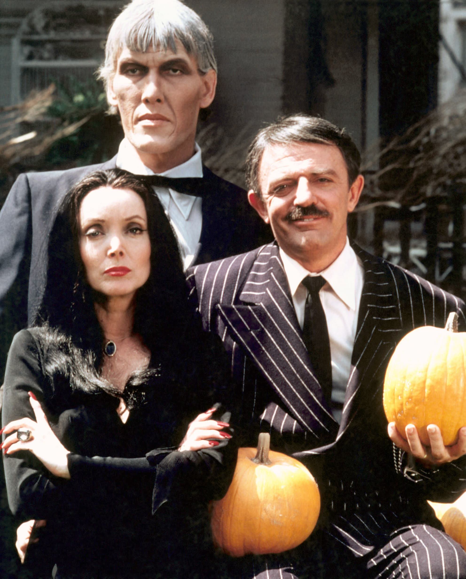 THE ADDAMS FAMILY, (clockwise from top): Ted Cassidy, John Astin, Carolyn Jones, 1964-66