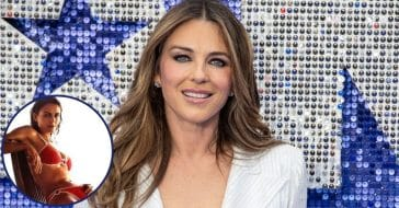 55-Year-Old Elizabeth Hurley Shares Photo From 'First Bikini Shoot Ever'