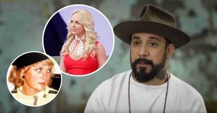 AJ McLean compares Britney Spears to Princess Diana