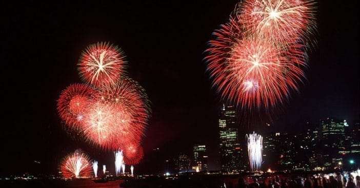 Fireworks over New York
