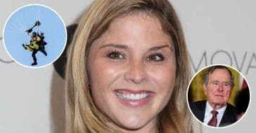 Jenna Bush Hager honored her grandfather by skydiving