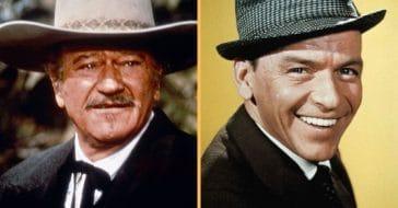 John Wayne, Frank Sinatra